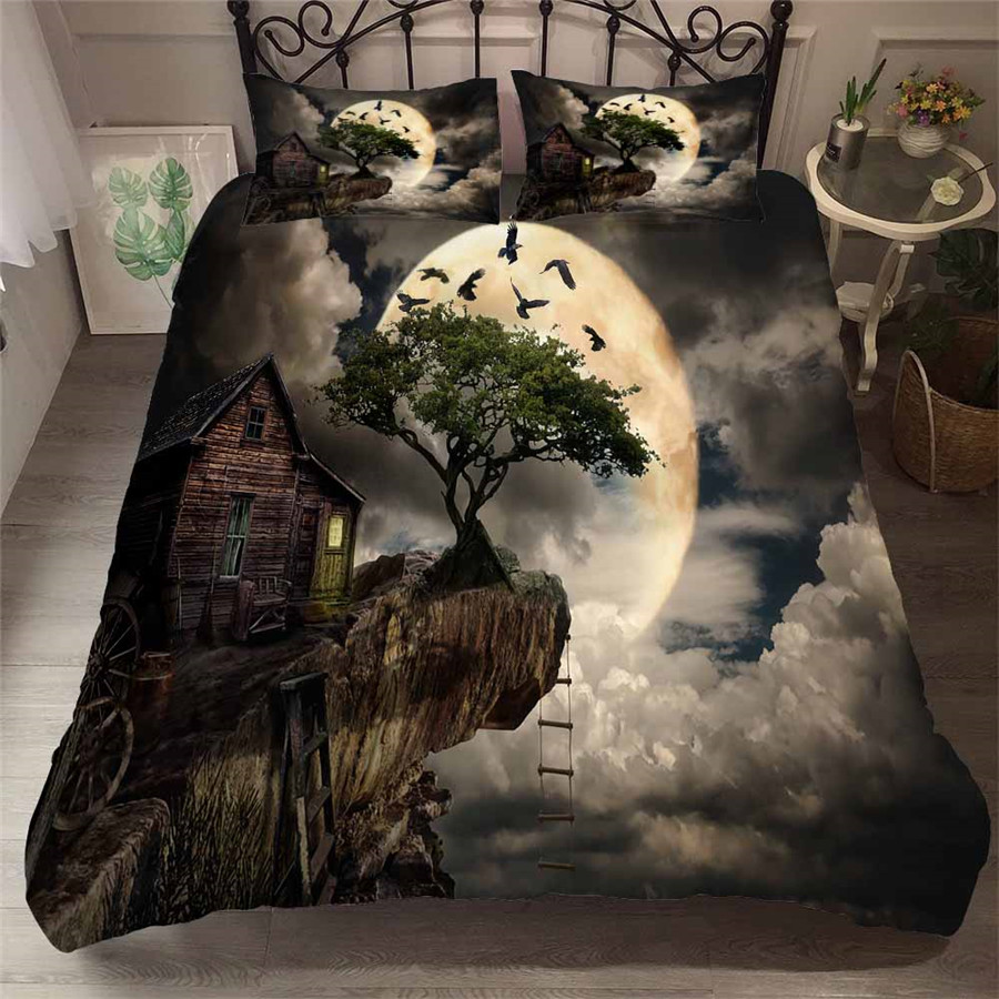 Bedding Set 3D Printed Duvet Cover Bed Set Sea Fantasy Fairy Forest Home Textiles For Adults Bedclothes With Pillowcase #MJSL11