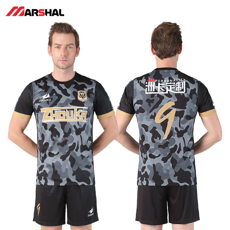 727e786c6c6 Zhouka Blank Football jerseys 2018 2019 Adults Men tracksuit Soccer  Training Suit Soccer Jersey & shorts Sportswear Customized-in Soccer Sets  from Sports ...