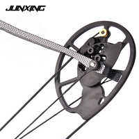 High Quality 1 Pair Compound Bow Pulley Aluminum Alloy Suit 20-70 LBS Compound Bow DIY for Outdoor Hunting Shooting Fishing