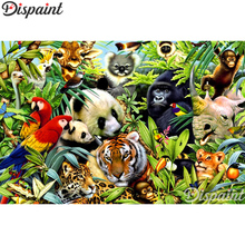 Dispaint Full Square/Round Drill 5D DIY Diamond Painting Animal tiger panda 3D Embroidery Cross Stitch Home Decor Gift A10090 dispaint full square round drill 5d diy diamond painting animal tiger sceneryembroidery cross stitch 3d home decor gift a11463