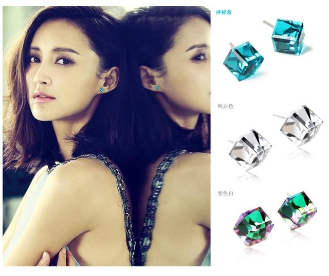 Free Shipping Classic crystal stud earring female fashion small accessories ol elegant blue earrings 170  Min Order $20