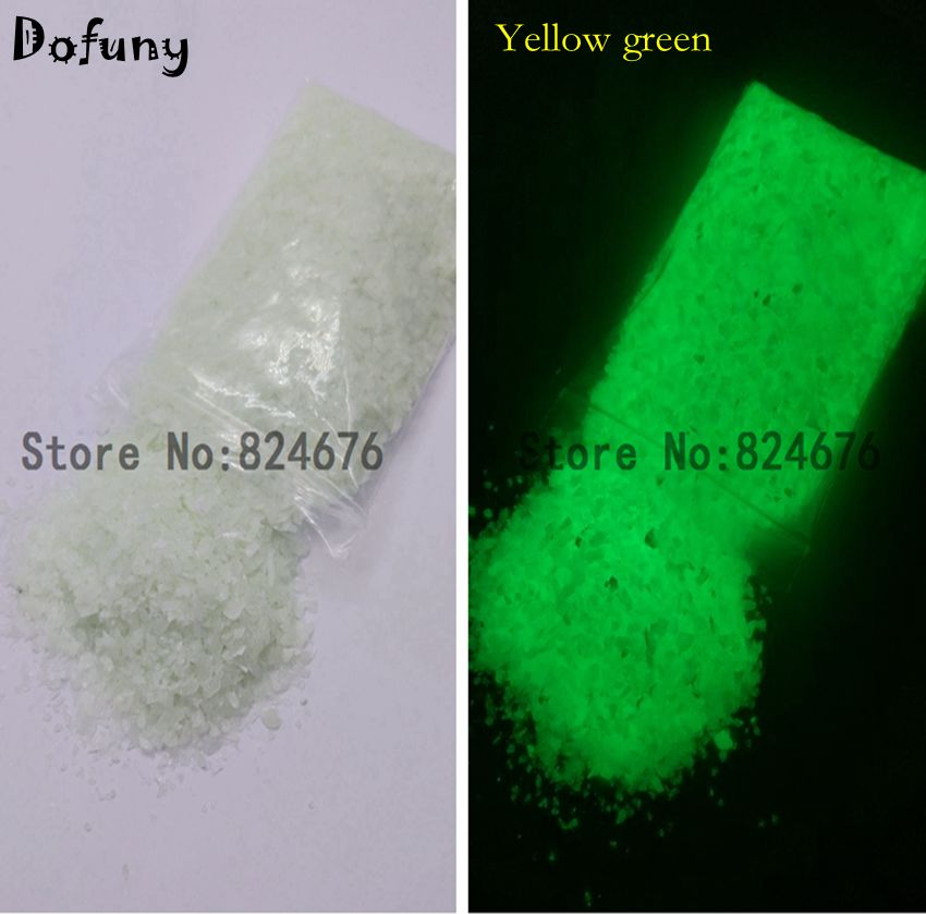 Bright Yellow-green Luminous Stone Decoration Spall for Fishbowl Glow in dark Sand Glass vial bottle Nail Art Jewelry 100g/lot