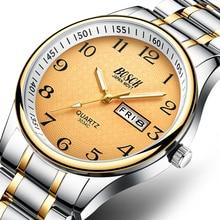 Men's Watches Top Brand Luxury Quartz Watch Fashion Stainless Steel Wristwatch Waterproof Male Day Date Clock