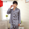 7 Color Men's Silk Pajamas Luxurious Silk Satin Pyjamas Pijama Men, Men's lounge Pajama Sets Plus Size 3XL Pijama Hombre