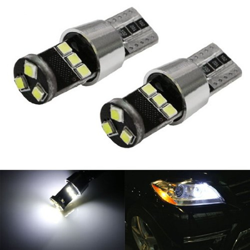 HID Xenon White 5W 9-SMD-2835 CAN-bus Error Free W5W 168 194 LED Parking Light Bulbs For Audi BMW Mercedes Porsche Volkswagen 2pcs jdm gold yellow 3000k samsung led 2835 smd h15 led bulbs for audi bmw mercedes volkswagen for daytime running lights