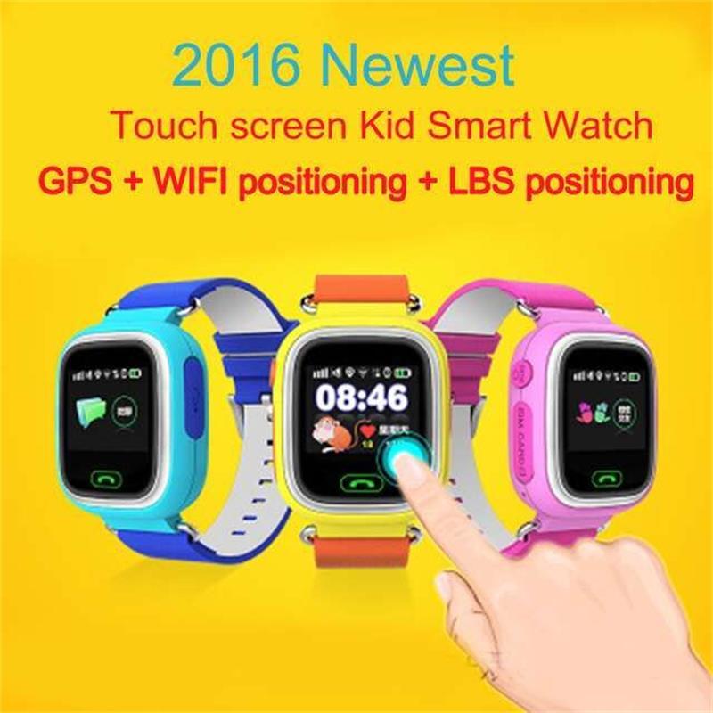 GPS reloj inteligente reloj de bebé Q90 con pantalla táctil Wifi llamada SOS ubicación DeviceTracker para niño seguro Anti-perdido Monitor PKQ80 Q60