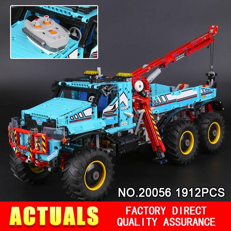 Lepin 20056 1912 pcs Série Technique Le Tout Terrain 6X6 RC Camion Ensemble Blocs de Construction Briques Jouets modèle 42070 pour Enfant