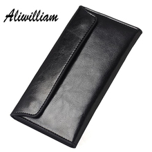Aliwilliam Brand Genuine Leather Wallets Women 2017 Long Wallet Female Purse Cowhide Cards Wash Holder Wallet Ladies Clutch Bag