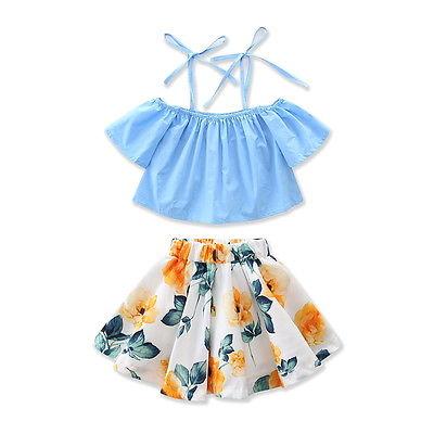 Summer Infant Kids Baby Girls Off Shoulder Strap Loose ...