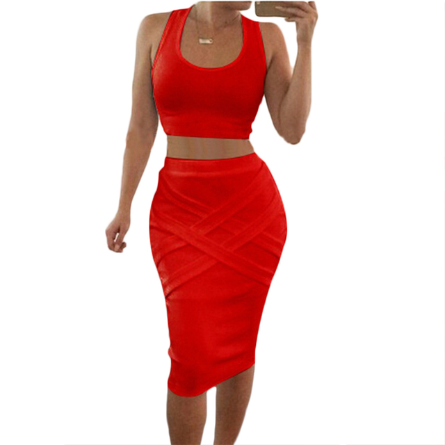 9f584c1430b 2018 two piece sleeveless dress sexy club Europe Summer eBay bandage dress  aliexpress explosion women clothing 0331