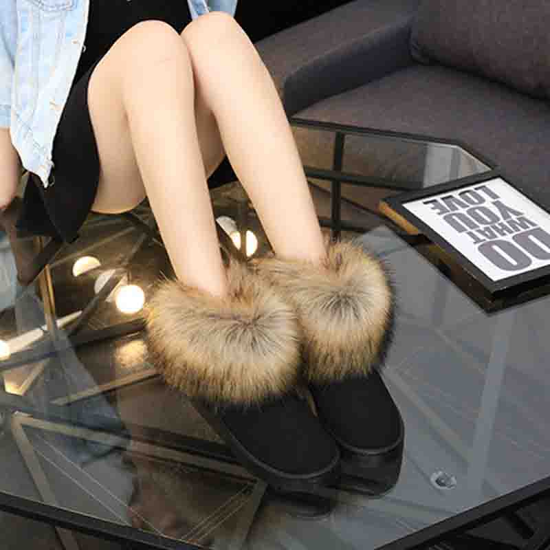 412ba9b7e482 DEKABR Brand 2019 New Woman Snow Boots Female Thickened Fluff Warm Boots  Flat Warm Waterproof Women
