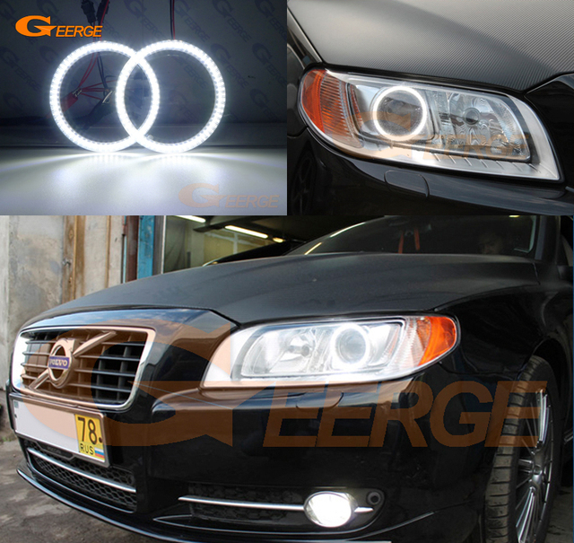 For Volvo V70 2008 2009 2010 2017 Xenon Headlight Ultra Bright Illumination Smd Led Angel Eyes Kit Drl