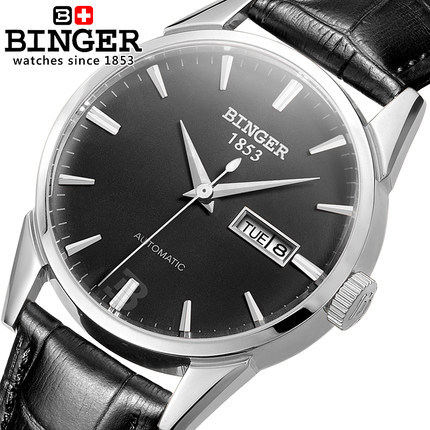 2017 New Luxury Brand Watches Men Dress Watch Real Leather Wristwatches Casual Analog Binger Clock Relogio Feminino Reloj Mujer luxury brand watches for men binger dress watch casual crystal automatic wrist steel wristwatch relogio feminino reloj