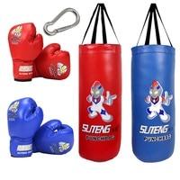 Boy Girl Kick Boxing Punching Bag PU Leather Adult Children Kids Sandbag MMA Taekwondo Sport Fitness Training Exercise Equipment