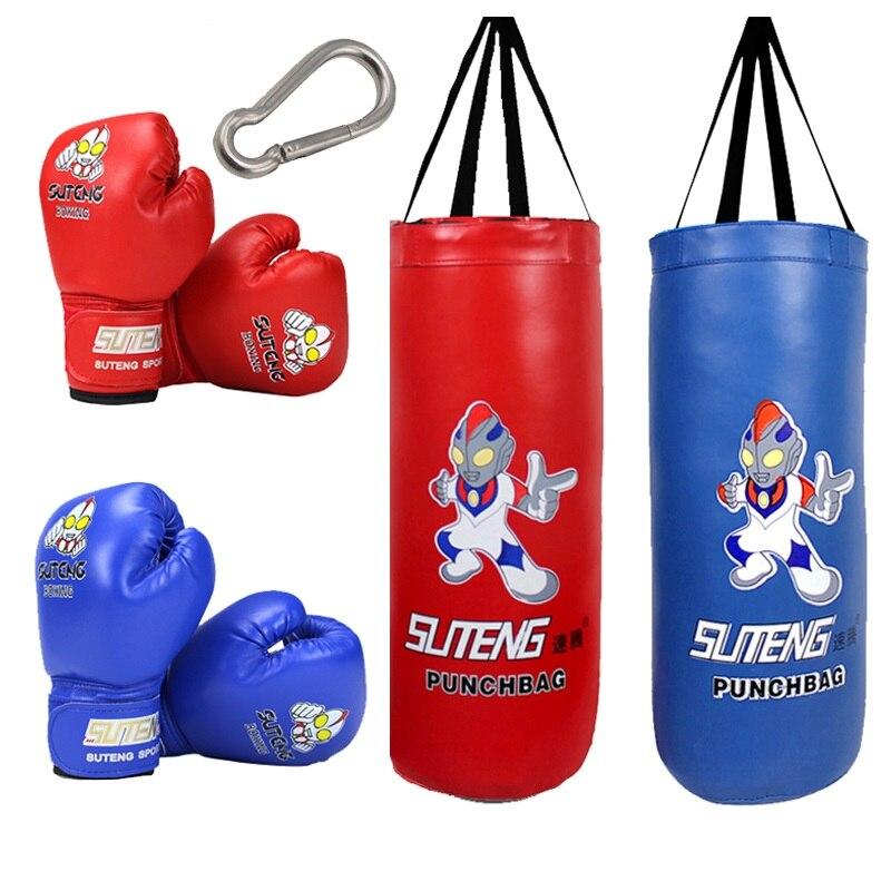 Garçon fille coup de pied boxe sac de boxe PU cuir adulte enfants enfants sac de sable MMA Taekwondo Sport Fitness entraînement équipement d'exercice