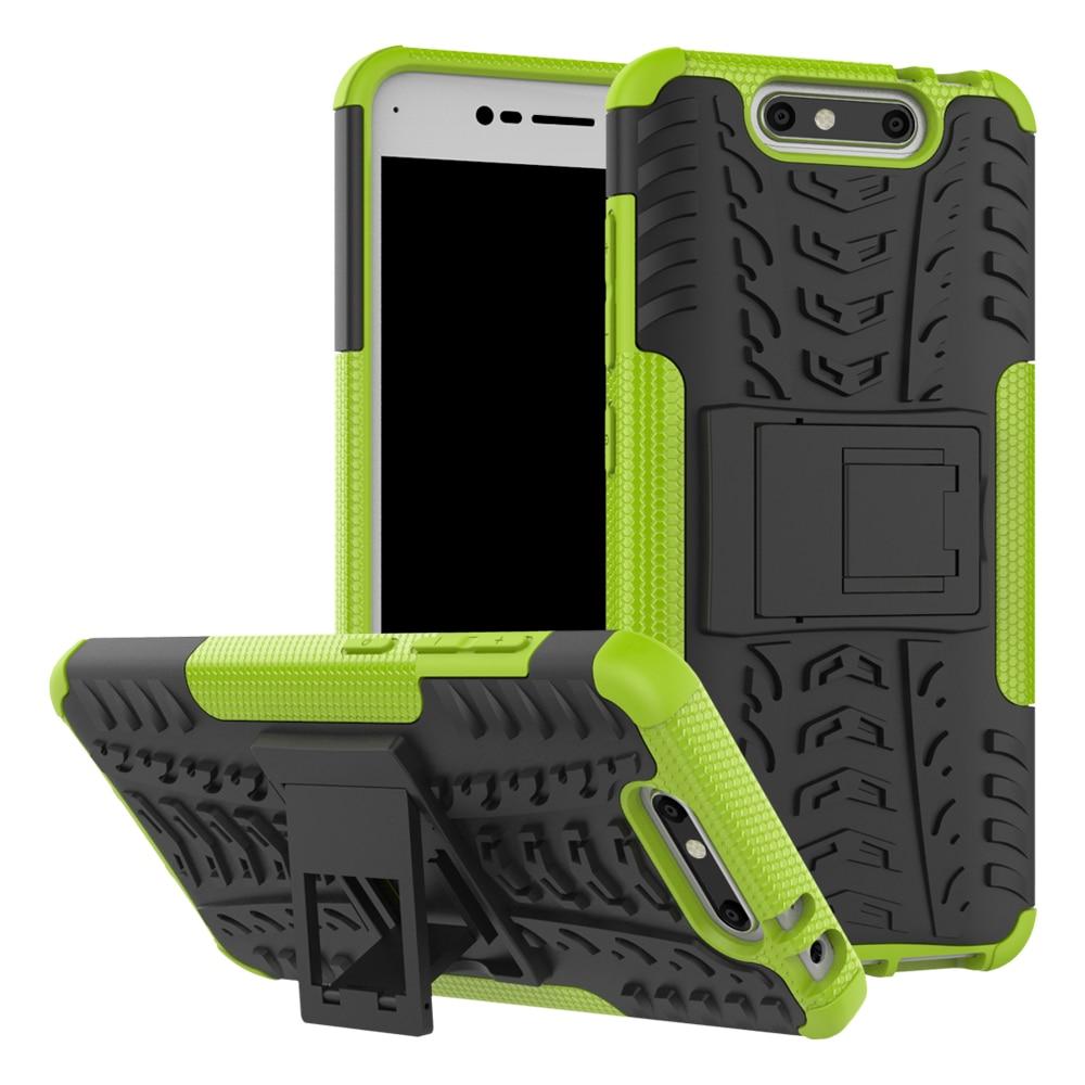 Funda ZTE Blade V8 5.2inch TPU y PC Dual Armor Capa con soporte Funda - Accesorios y repuestos para celulares - foto 5