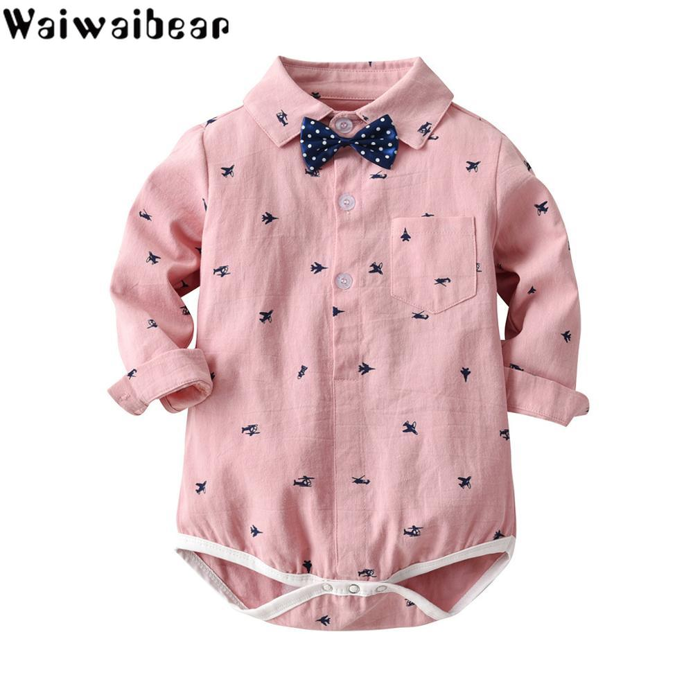 Waiwaibear  Newborn Baby Rompers Long-sleeved Boy Infant Outfits Clothes TB7