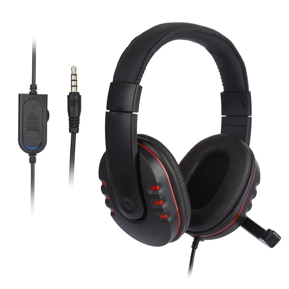 Universal Computer PC Headband Headsets Foldable Headphone With Mic 3.5mm Wired