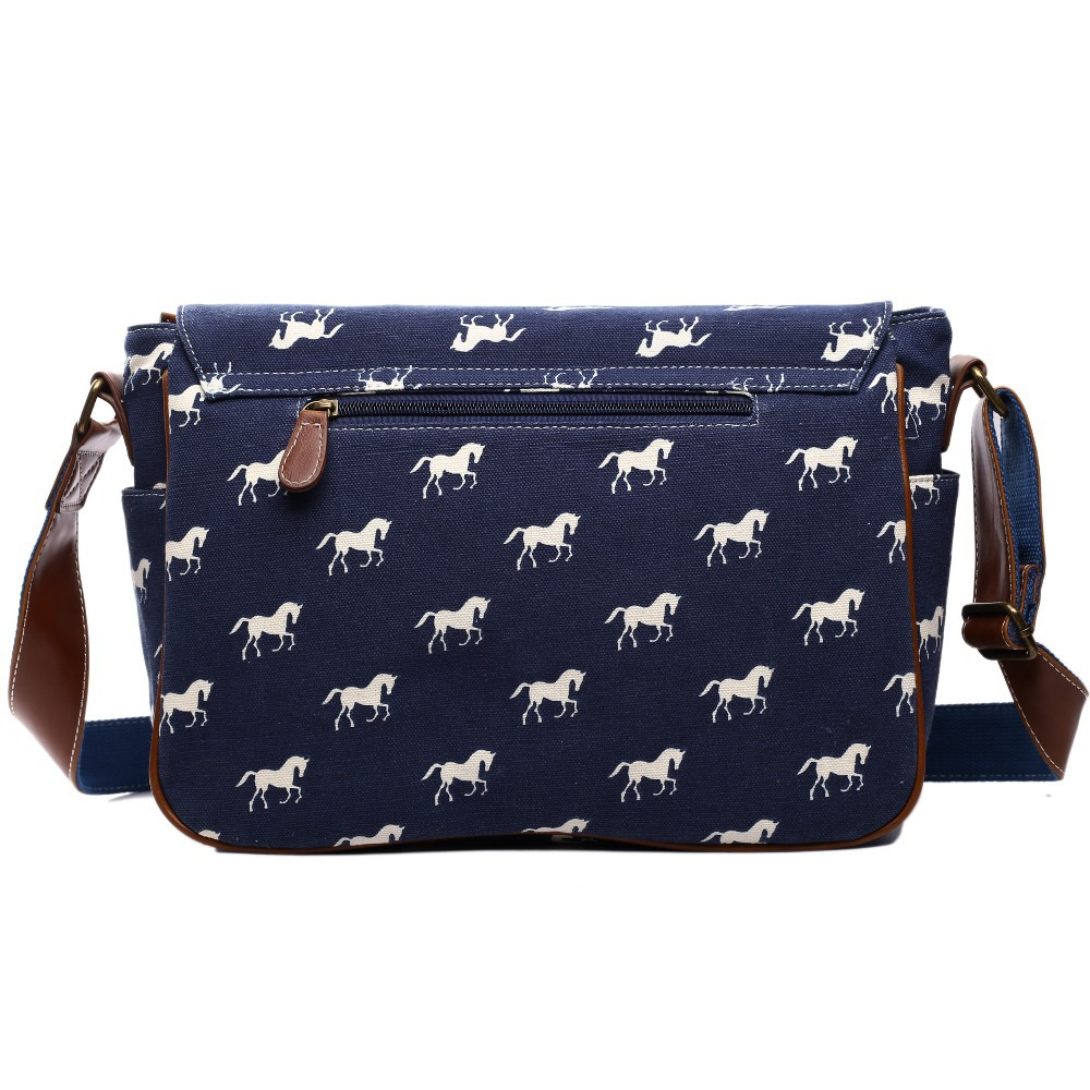 Miss Lulu Messenger Bags School Bags for Teenage Girls Boys Horse Canvas  Large Cross Body Shoulder Satchel A4 Book Bag YD1157 -in Crossbody Bags  from ...