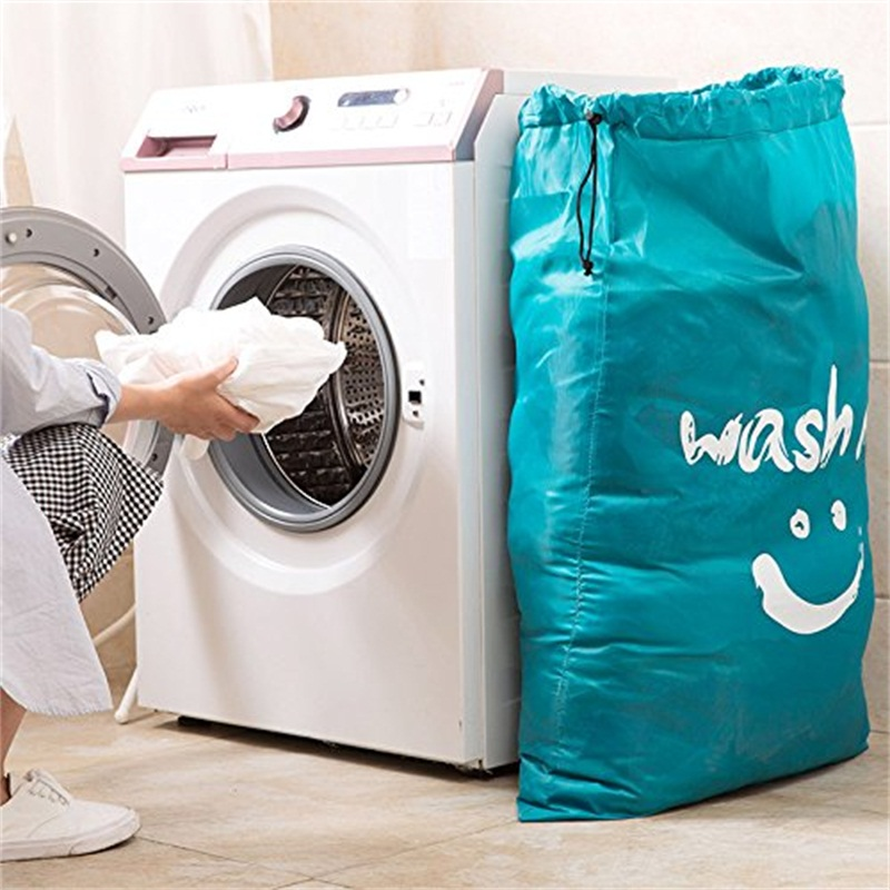 New Laundry Basket Foldable Bath Hamper Dirty Clothes Drawstring Storage Bags Bathroom Rack Clothes Organizer Bra Laundry Bag(China)