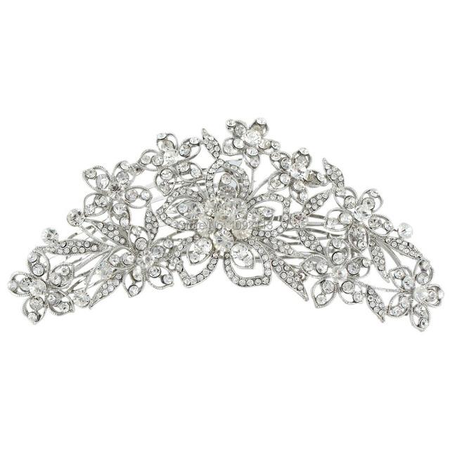 Bella 2015 headpieces tiaras para noivas casamento pentear o cabelo flor pinos gota de cristal austríaco para as mulheres de noiva da dama de honra &