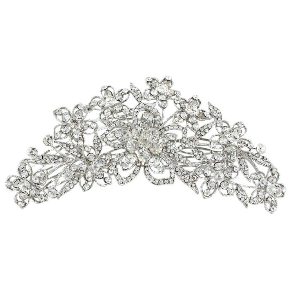 Bella Fashion Headpieces Tiaras For Brides Wedding Flower Hair Comb Pins  Droplet Austrian Crystal For Women Bride   Bridesmaid on Aliexpress.com  c8d7394c2b54