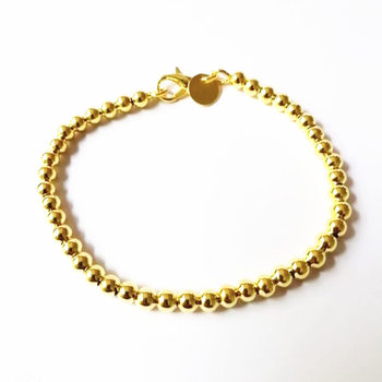 Beautiful fashion Elegant Gold color silver color 4MM beads chain women lady cute Bracelet high quality Gorgeous jewelry H198 5