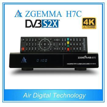 5 шт /лот DVB-S2X + 2 * DVB-T2/C тройные тюнеры в формате 4 K UHD, kodi TV  Box ZGEMMA H7C ультра Процессор