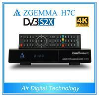 5 pçs/lote DVB S2X + 2 * DVB T2/C Sintonizadores Triplos 4K UHD Kodi TV Box ZGEMMA H7C Ultra CPU Multistream QTStalker H.265 + Ci Conax Funções|triple tuner|tv tuner|ultra box -