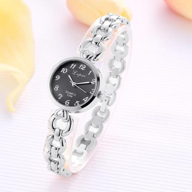 LVPAI 2018 Watch Women Gold Vintage Luxury Clock Women Bracelet Watch Ladies Brand Luxury Stainless Steel Women Clock Gifts B50 1