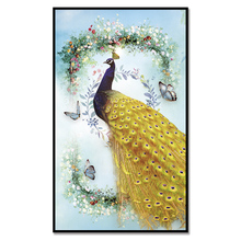 (No Framed)Factory wholesale Beautiful Peacock Series Custom Canvas Print On Printing Wall Pictures Home Decoration