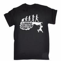 Personalized T Shirt Custom T Shirt Logo Evolution T Shirt Rock Climb Mountain Science Funny Gift