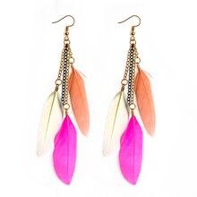 Exotic Fluorescent Tassel Earrings