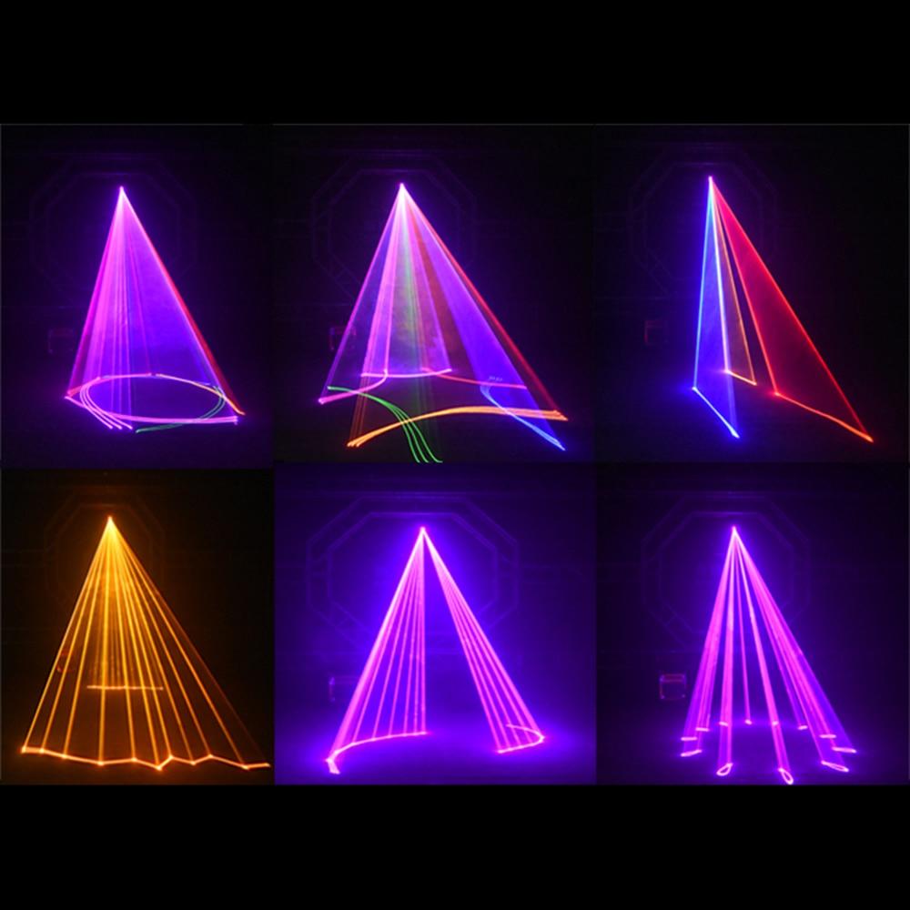 3D лазерный светильник RGB цветные DMX 512 сканер проектор вечерние Рождество DJ диско шоу светильник s клуб музыкальное оборудование луч движущийся луч сценический - 5