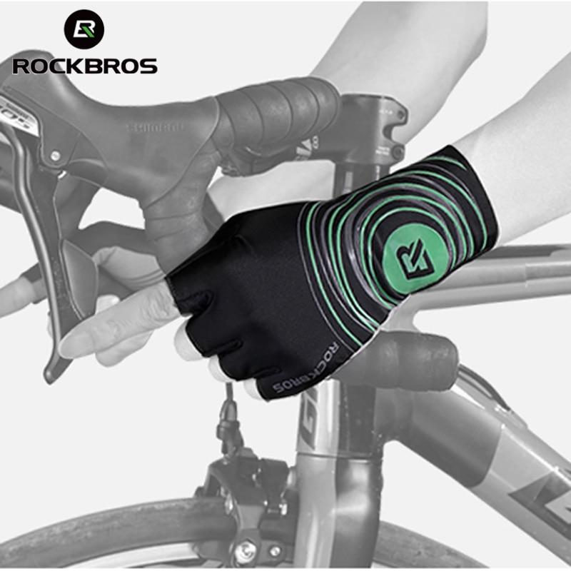 ROCKBROS Pro Team Road Bike Gloves Fingerless Cycling Gloves Gel Pad Breathable Anti-Slip MTB Sports Gloves Mitten for Men Women