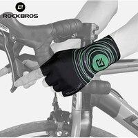 ROCKBROS Men Half Finger Gloves Cycling Road Bike Bicycle Short Gloves Anti Slip Gel Pad MTB