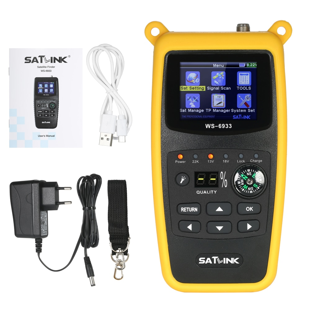SATLINK WS6933 LCD Satellite Finder Meter Digital satellite tv receiver  with Compass Digital Satellite Signal Finder MeterSATLINK WS6933 LCD Satellite Finder Meter Digital satellite tv receiver  with Compass Digital Satellite Signal Finder Meter