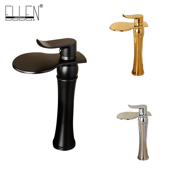 New arrival tall bathroom faucet chrome gold and oil rubbed bronze waterfall faucets cold and hot water tap allen roth brinkley handsome oil rubbed bronze metal toothbrush holder