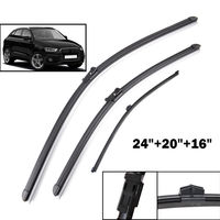BBQ FUKA 3PCS Set Car Windshield Wiper Blades Front Rear Window Rain Wiper Fit For Audi