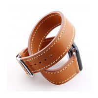 High Quality Extra Long Genuine Leather Strap For Apple For Women Watch Band Double Tour Bracelet