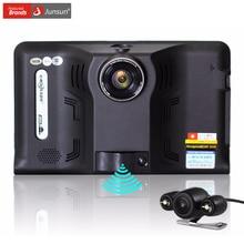 Junsun 7 pouce Voiture GPS Navigation Android Détecteur de Radar DVR 16 GB avec caméra arrière de Camion véhicule gps navigator navitel