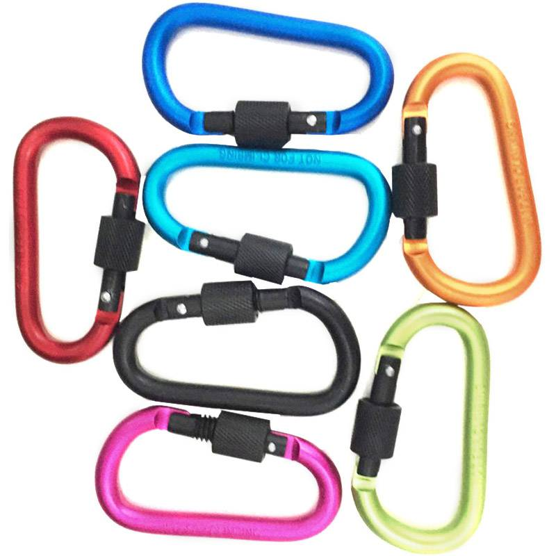 Image 2 - Aluminum Keyring Carabiner D Ring Chain Clip Snap Hook Karabiner Camping Tool A-in Outdoor Tools from Sports & Entertainment