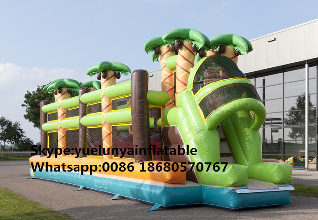 (China Guangzhou) manufacturers selling inflatable slides,Inflatable obstacles KY-714
