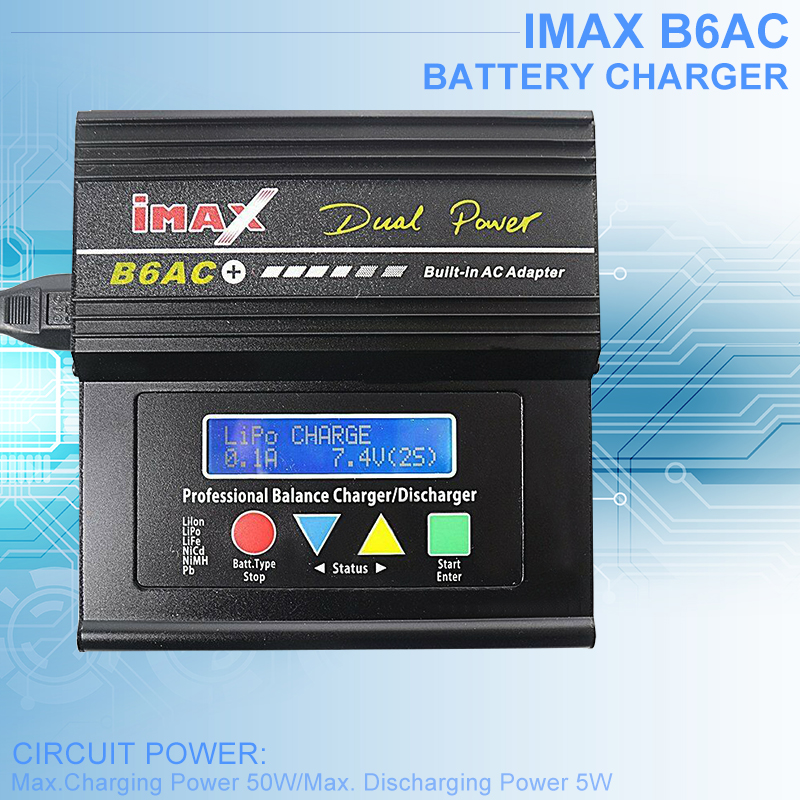 2019 New IMAX B6AC Charger LCD Screen Digital Battery Charger RC Balanced Charger UK EU US AU Plug Black in Chargers from Consumer Electronics