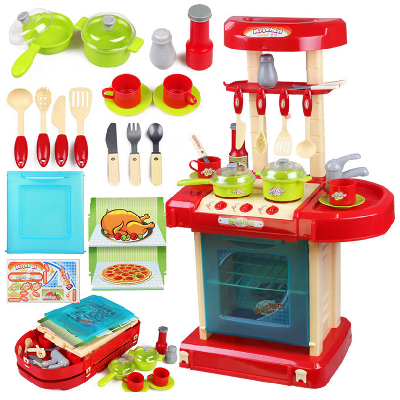 New Educational Toys Children Pretend Play Toys Set Kitchen Toys Set Kitchen  Cooking Toys Set
