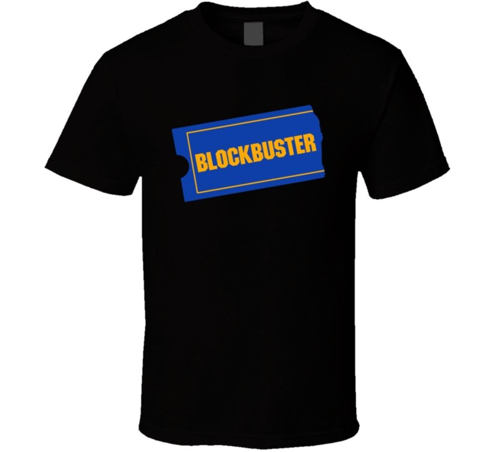 2018 New Men T-Shirt top tee Blockbuster Video DVD Retro Movie Rentals Funny Parody T Shirt