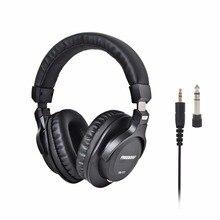 FB 777 Over ear zamknięty styl 45mm sterowniki jednostronnie odłączany kabel 3.5mm wtyczka 6.35mm Adapter Monitor słuchawki