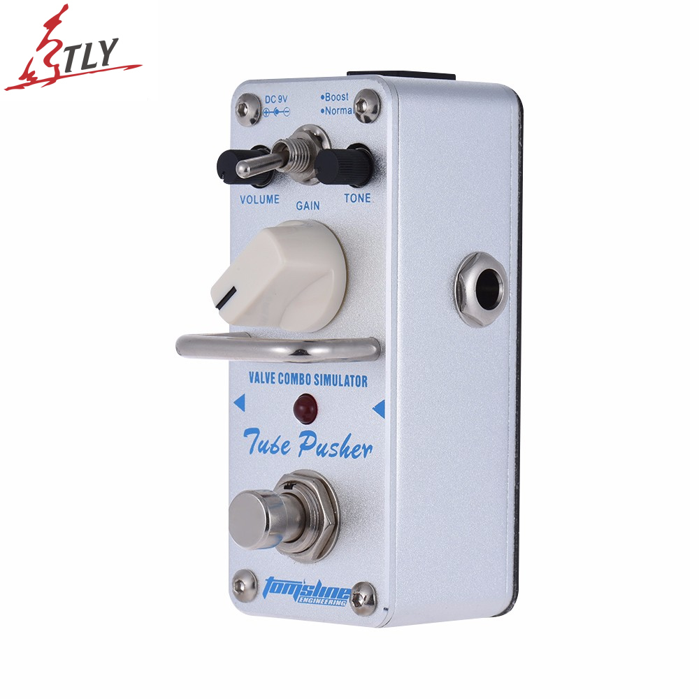AROMA ATP-3 True Bypass Tube Pusher Valve Combo Simulator Electric Guitar Effect Pedal Mini Single Guitarra Effect Pedal nux roctary force simulator polyphonic octave stomp boxes electric guitar effect pedal fet buttered tsac true bypass