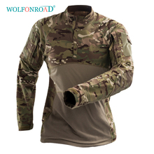 WOLFONROAD Men Long Sleeve T-shirts Hiking Camping Outdoor Sport Tee S