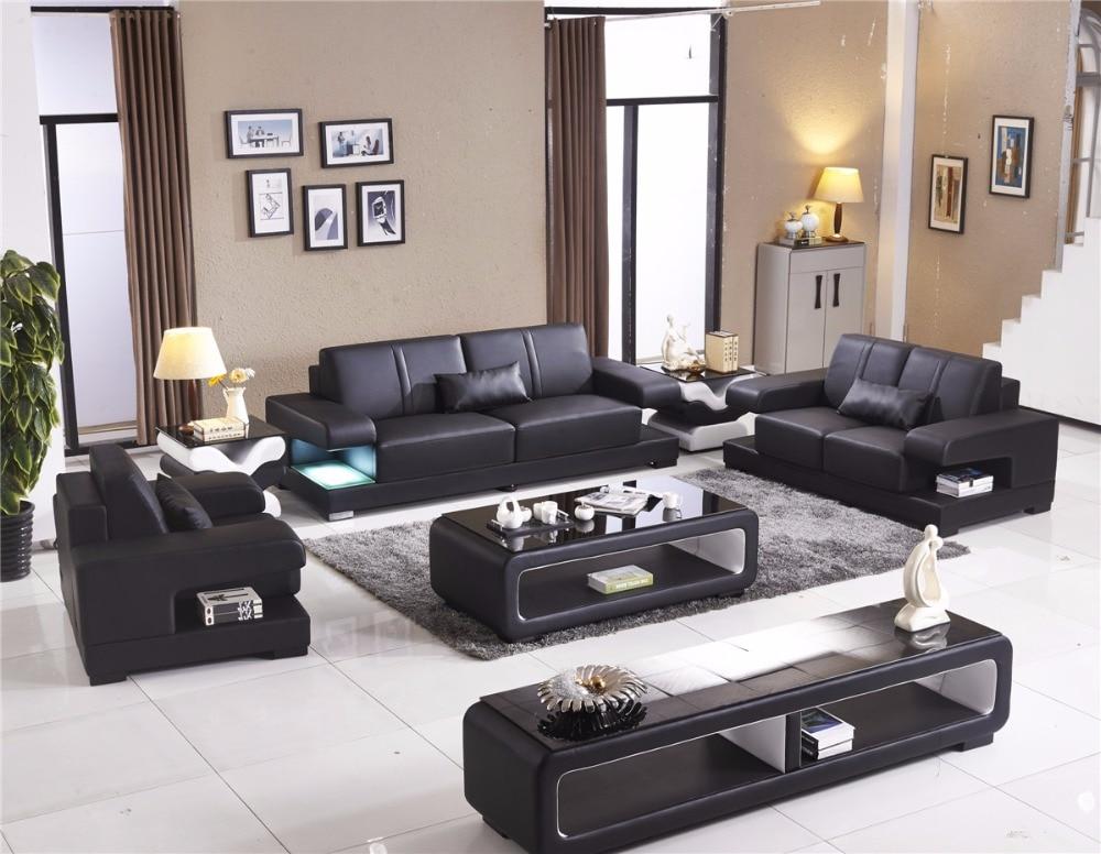 € 2292.75 |2019 temps limité nouveau pouf chaise fauteuil canapés pour  salon livraison gratuite Design meubles de maison moderne en cuir canapé-in  ...